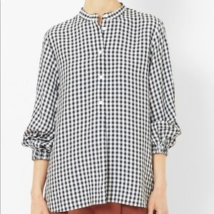 Tibi Gingham PullOver Top 100% cotton